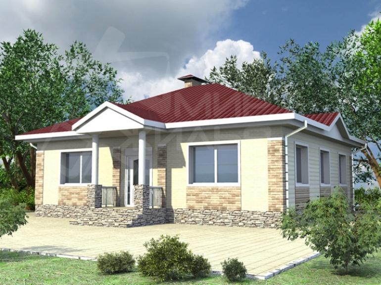 Проект одноэтажного дома из керамического блока