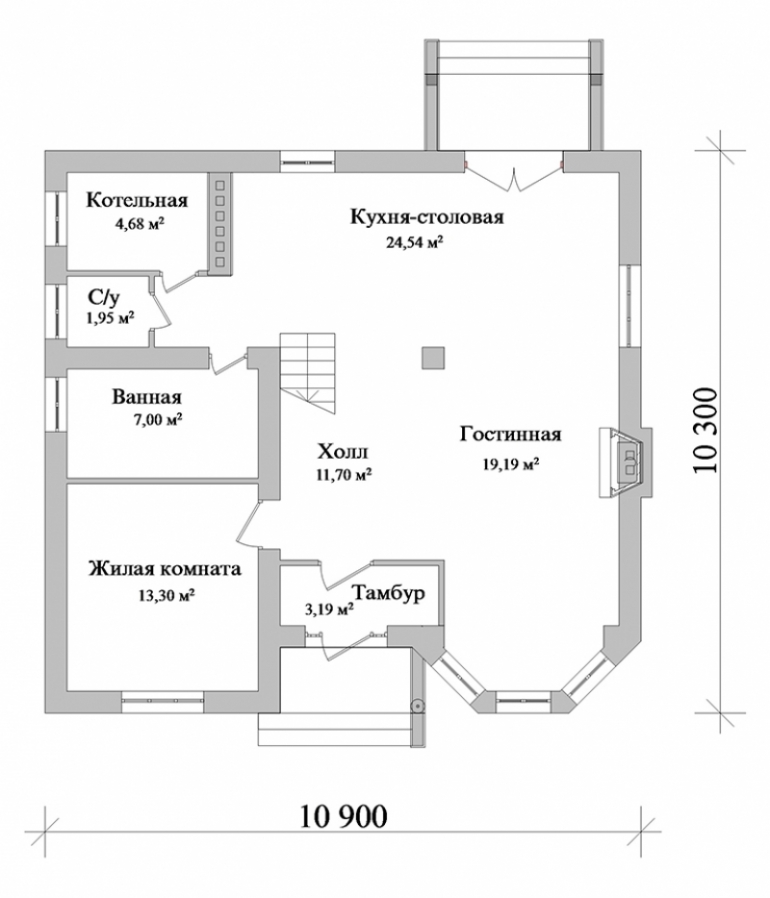 План частного дома из кирпича