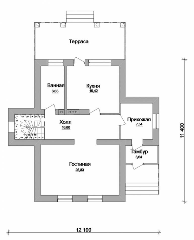 План частного дома