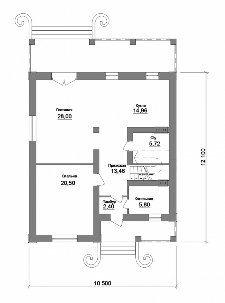План частного дома под ключ
