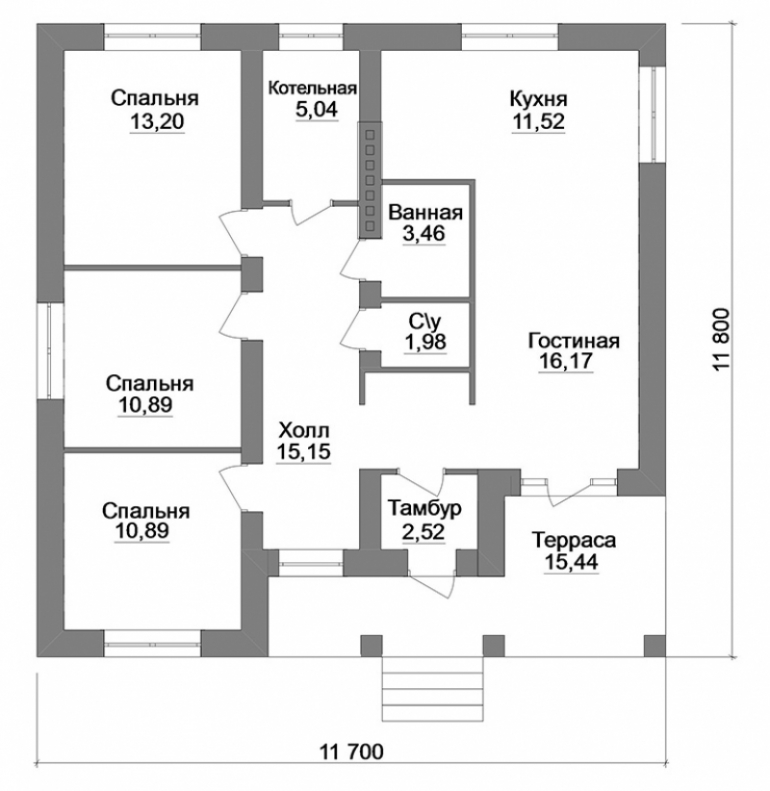 Пландвухэтажного дома
