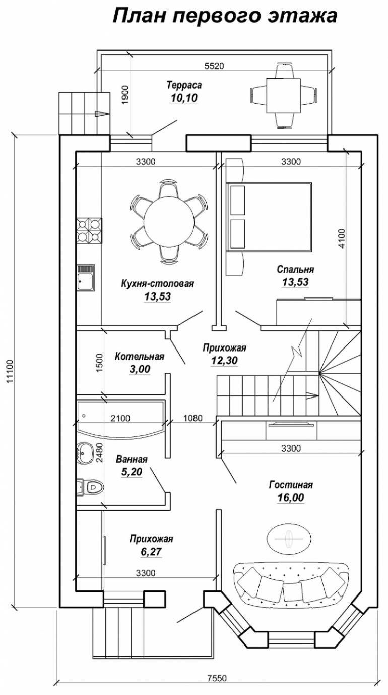 Частный двухэтажный дом