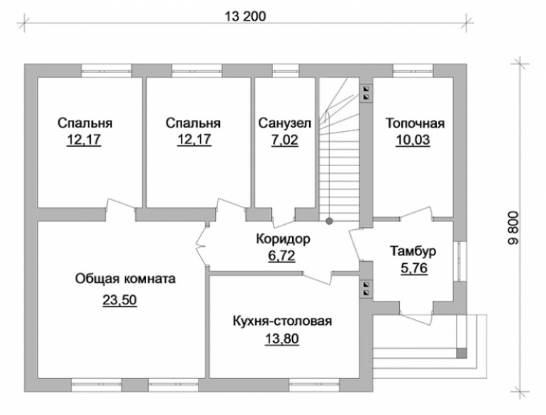 План дома из газобетона