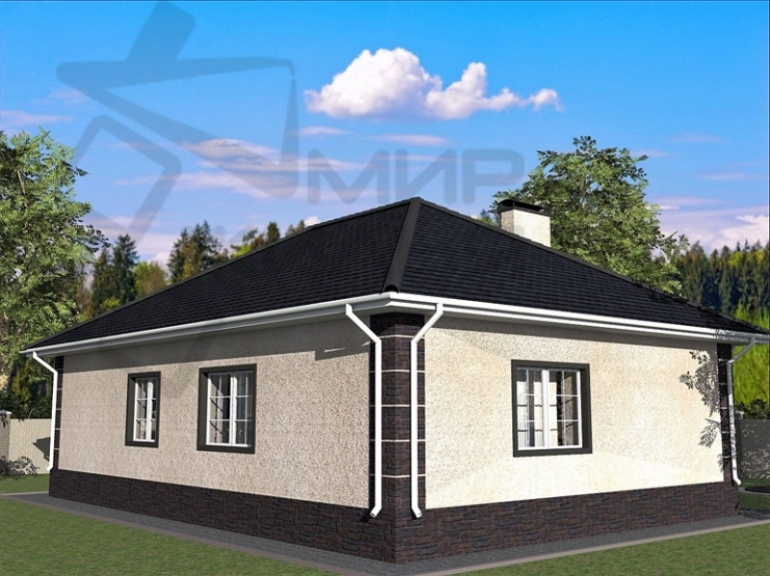 Проект дом строительство №396-120