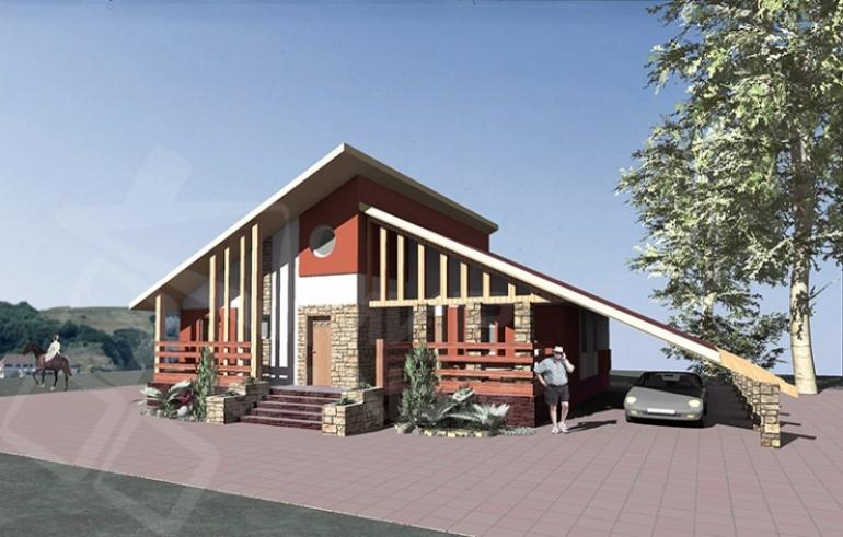 Проект одноэтажного жилого дома под ключ