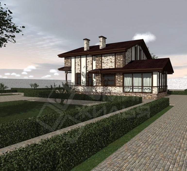 Проект двухэтажного дома под ключ №258-178