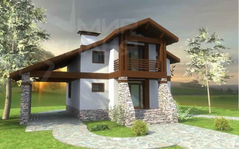 Проект двухэтажного частного дома №130-111