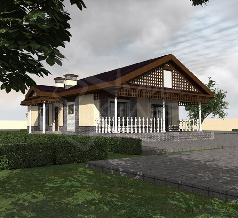 Проект одноэтажного дома из газоблока