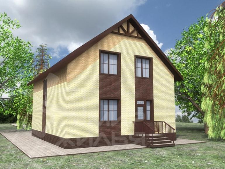 Проект двухэтажного дома из кирпича №150-124