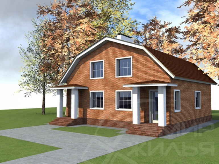 Проект дома на две семьи