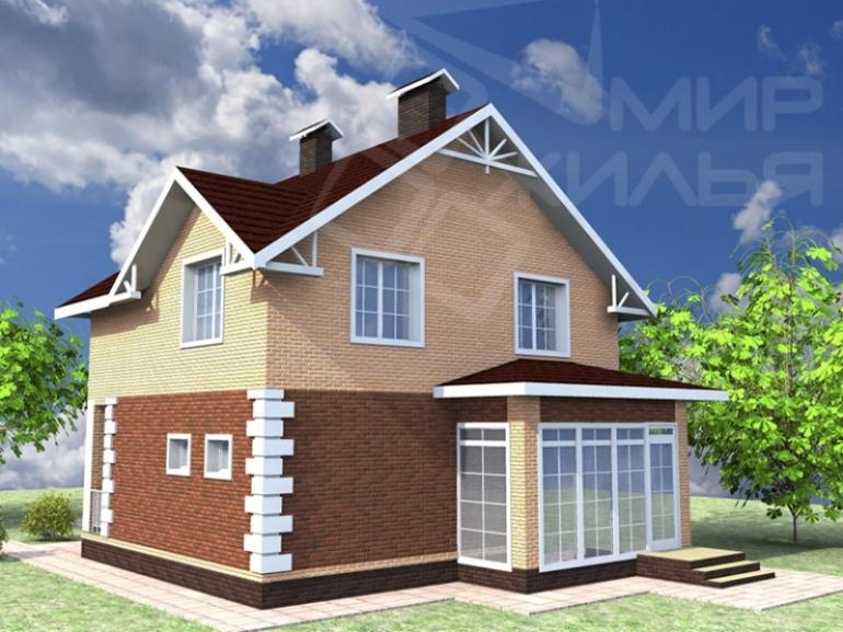 Проект двухэтажного дома под строительство №246-103