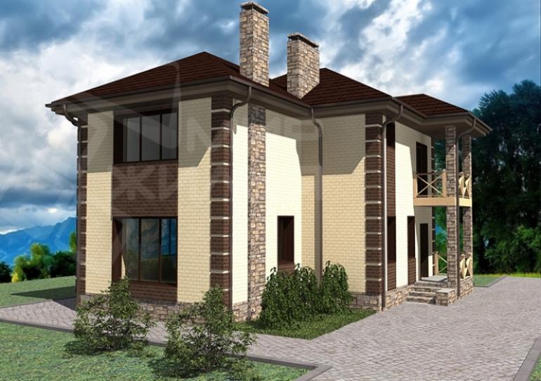 Строительство дома под ключ по проекту №137-130