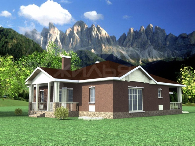 Проект одноэтажного дома №223-198
