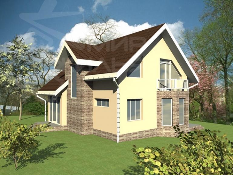 Проект двухэтажного дома №133-118