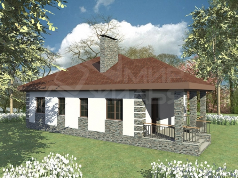 Проект частного дома №115-115