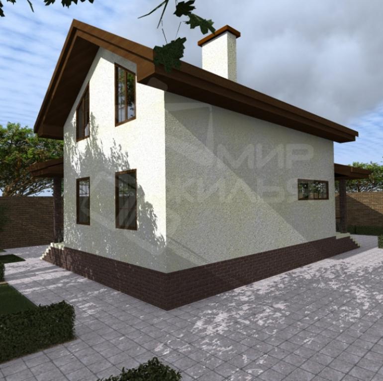 Проект дома с мансардой №232-96