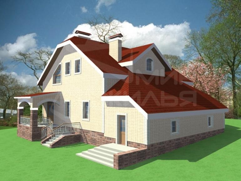 Проект  под строительство дома №100-263