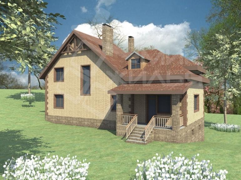 Проект частного дома с гаражом