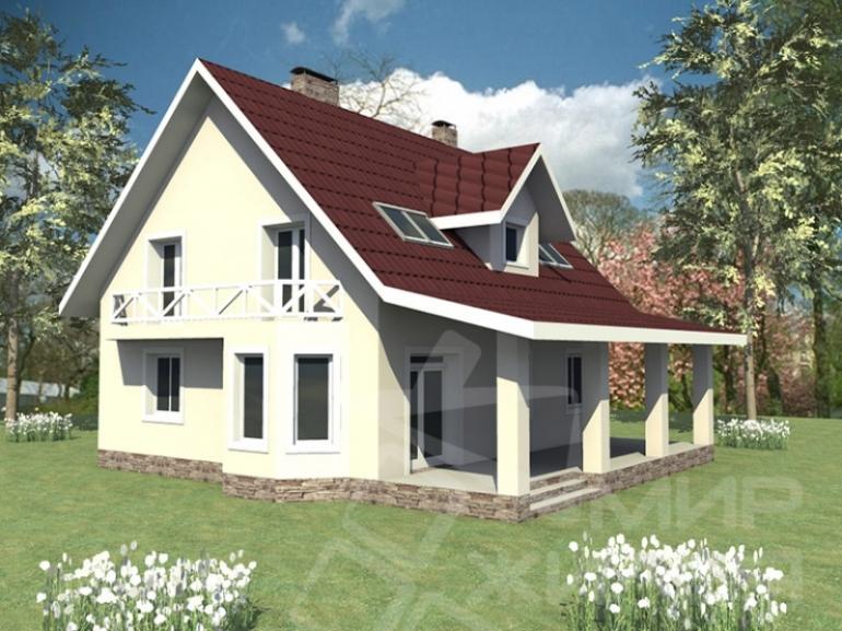 Проект двухэтажного дома из керамического блока