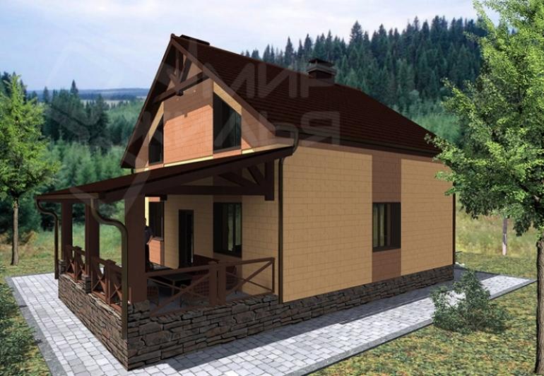 Проект двухэтажного дома под ключ №183-150
