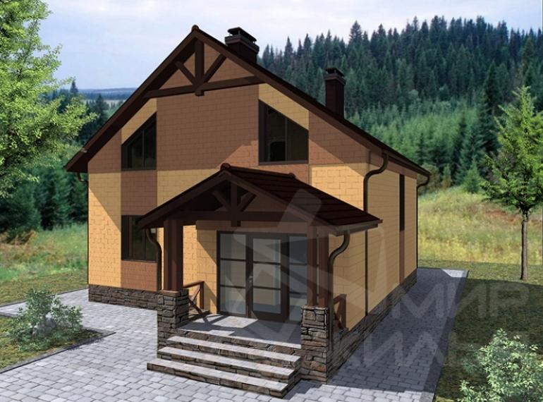 Проект дома из кирпича