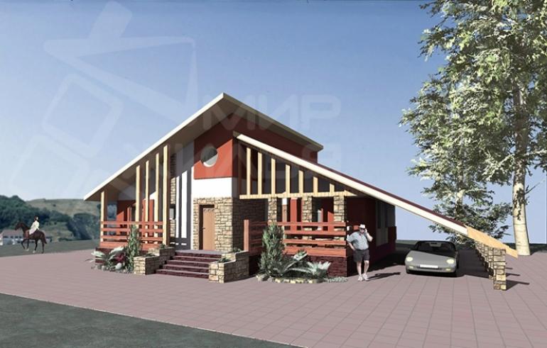 Проект одноэтажного жилого дома под ключ №87-116