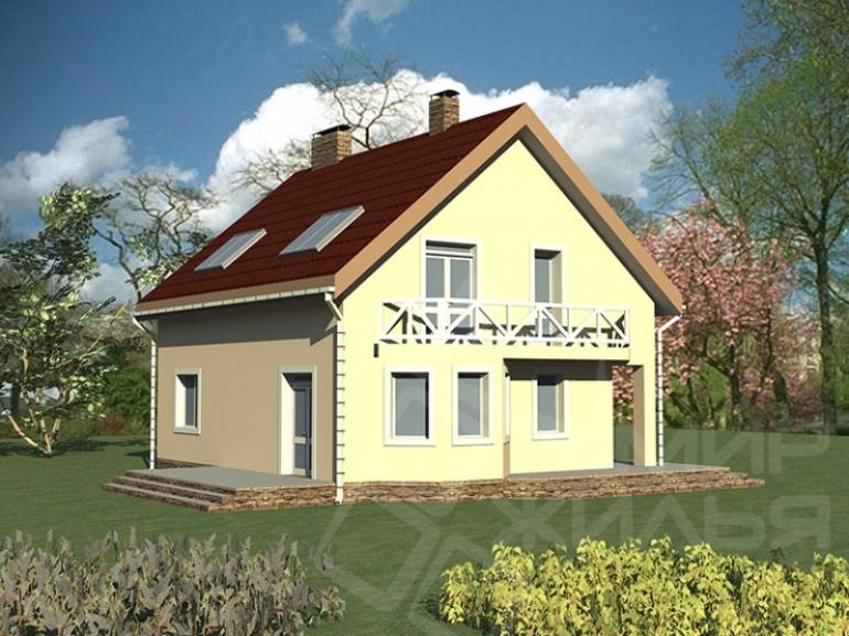 Проект дома из кирпича №182-165