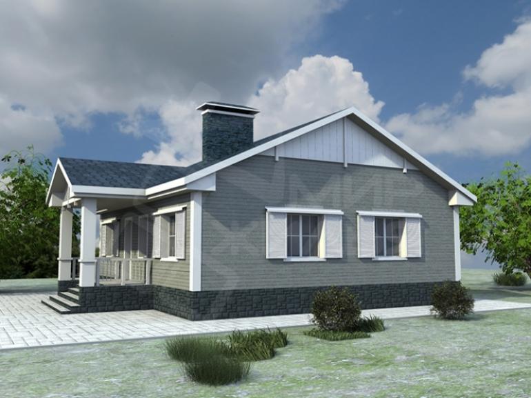 Проект дома под ключ №83-107