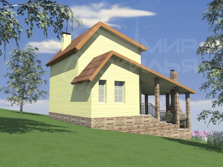 Проект двухэтажного дома площадью 80 кв.м. из керамических блоков №90-80