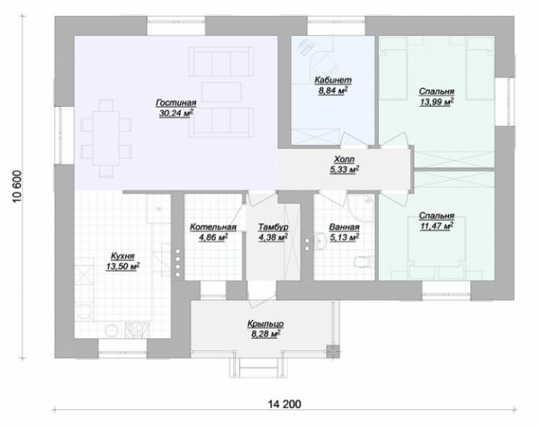 Дом под ключ №395-112