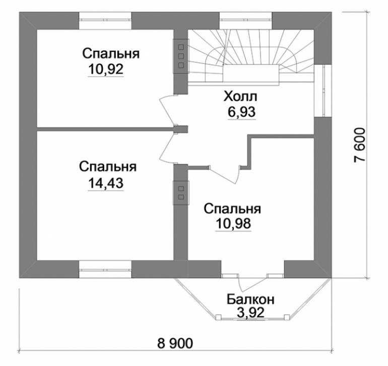 План двухэтажного дома под строительство