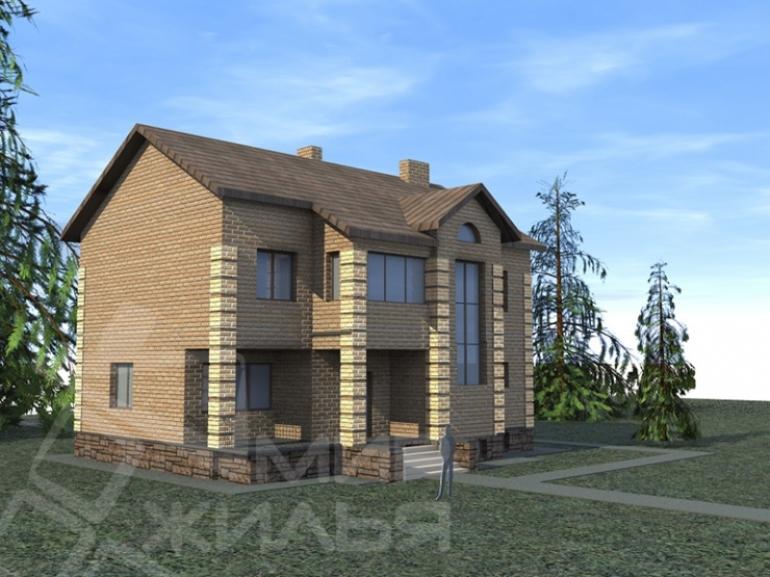 Проект двухэтажного дома под ключ №227-208