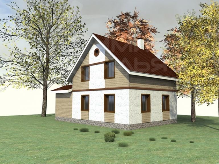 Недорогой дом с бассейном №136-106