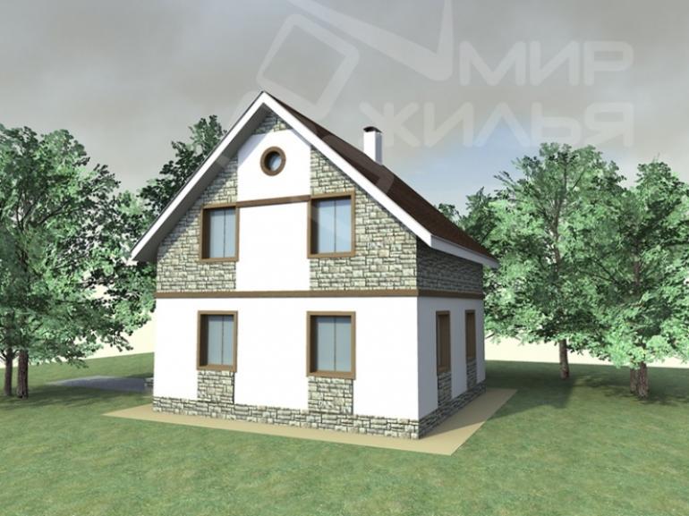 Проект двухэтажного дома под строительство №240-101