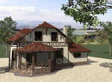 Проект двухэтажного дома №171-141