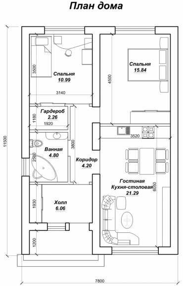 Построенный дом от строительной фирмы Мир жилья