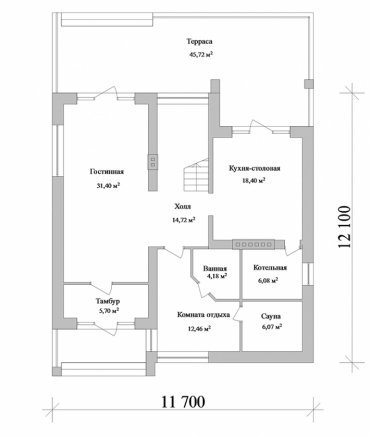 План большого дома