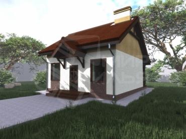 Одноэтажный дом из кирпича №47-57