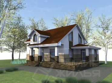 Проект двухэтажного дома №261-216