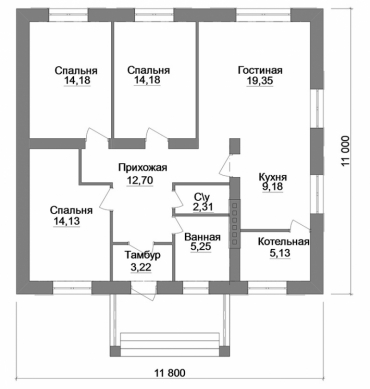 Планировка дома под ключ