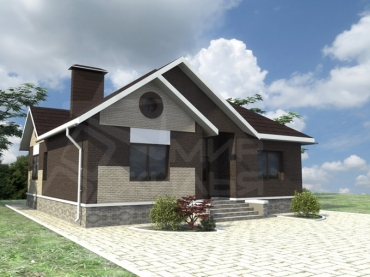 Проект частного дома из керамического блока №88-110