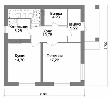 План двухэтажного дома под ключ
