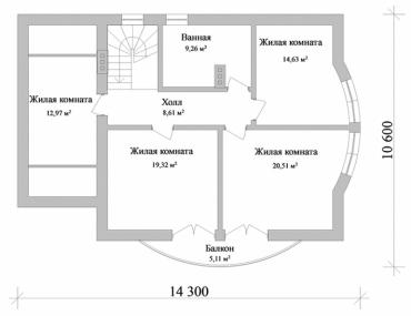 Проект двухэтажного дома №268-204