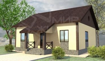 Построить дом недорого под ключ №45-103