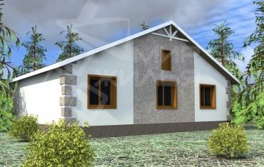 Проект одноэтажного дома №104-118