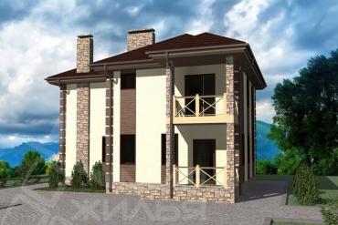 Строительство дома под ключ по проекту №137-125