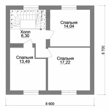 Проект двухэтажного дома под ключ №132-117