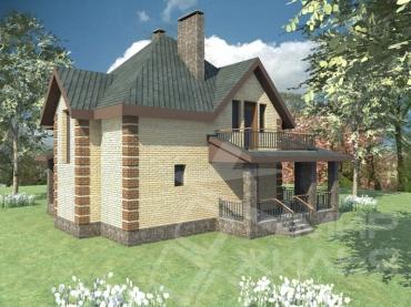 Проект двухэтажного дома №138-160