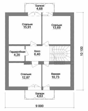 Проект частного дома №188-150