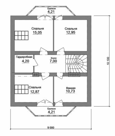 Проект индивидуального дома №189-150
